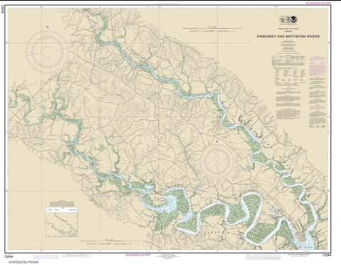 Buy map Pamunkey And Mattaponi Rivers (12244-15) by NOAA