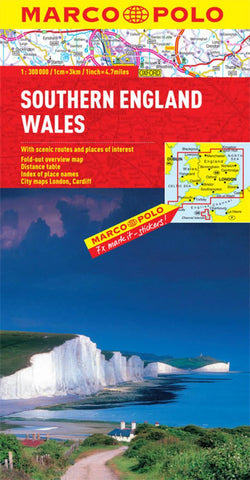 Buy map Wales and Southern England by Marco Polo Travel Publishing Ltd