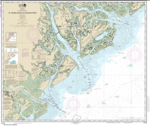 Buy map St. Helena Sound to Savannah River (11513-27) by NOAA