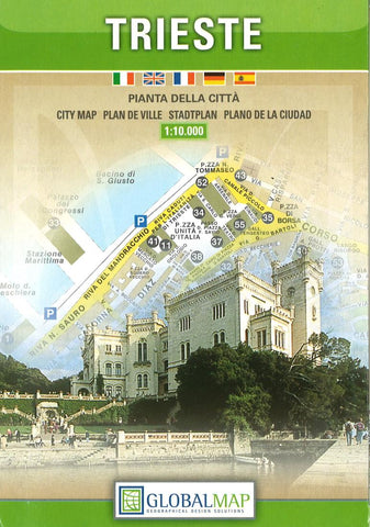Buy map Trieste, Italy by Litografia Artistica Cartografica