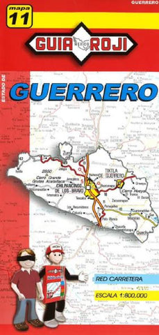 Buy map Guerrero, Mexico, State Map by Guia Roji