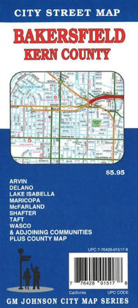 Buy map Bakersfield and Kern County, California by GM Johnson