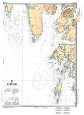 Buy map Milbanke Sound and Approaches/et les Approches by Canadian Hydrographic Service
