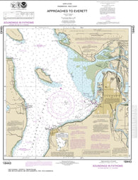 Buy map Approaches to Everett (18443-17) by NOAA