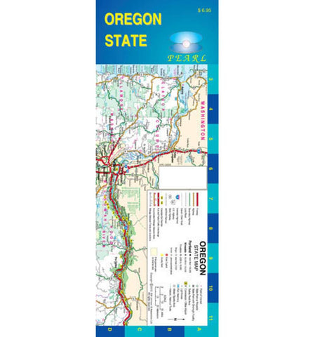 Buy map Oregon, Pearl Map, laminated, with Portland inset by GM Johnson