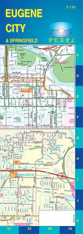 Buy map Eugene and Springfield, Oregon, Pearl Map, laminated by GM Johnson