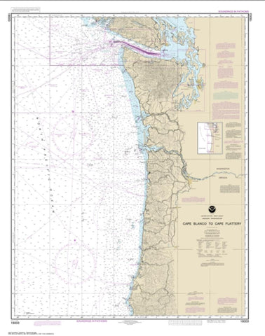 Buy map Cape Blanco to Cape Flattery (18003-20) by NOAA