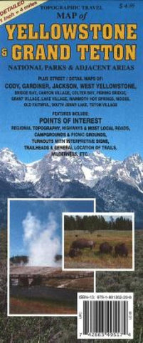 Buy map Yellowstone and Grand Teton, Wyoming, Topographic by GTR Mapping