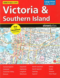 Buy map Victoria and Southern Island BC Street Atlas (Large Print edition) by Canadian Cartographics Corporation