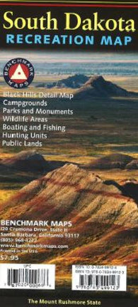 Buy map South Dakota Recreation Map by Benchmark Maps