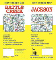 Buy map Battle Creek & Jackson, Michigan, Street Map by GM Johnson