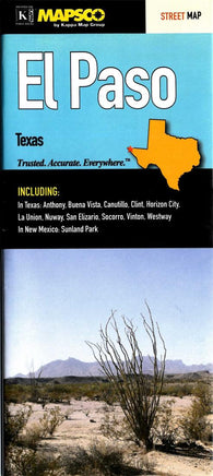 Buy map El Paso, Texas by Kappa Map Group