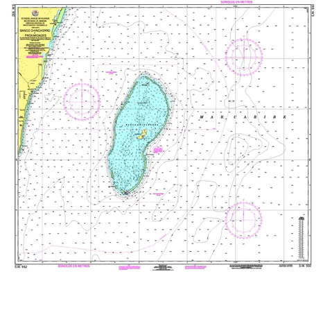 Buy map Banco Chinchorro y Proximidades by Secretaria de Marina