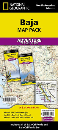 Buy map Baja California AdventureMap Pack by National Geographic Maps