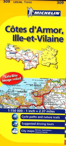 Buy map Cotes D Armor, Ille Et Villain (309) by Michelin Maps and Guides