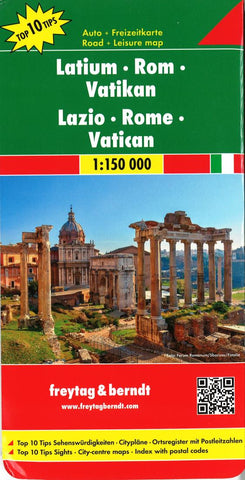 Buy map Lazio, Italy by Freytag-Berndt und Artaria