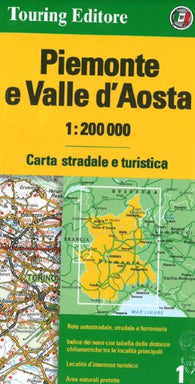 Buy map Piemonte and Valle dAosta, Italy by Touring Club Italiano