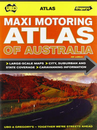 Buy map Australia, Maxi Motoring Atlas of by Universal Publishers Pty Ltd