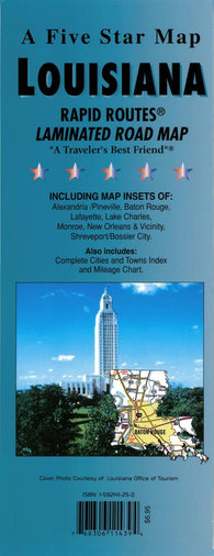 Buy map Louisiana Rapid Routes by Five Star Maps, Inc.