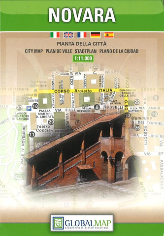 Buy map Novara, Italy by Litografia Artistica Cartografica