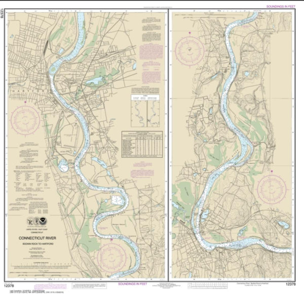 Buy map Connecticut River Bodkin Rock to Hartford (12378-15) by NOAA