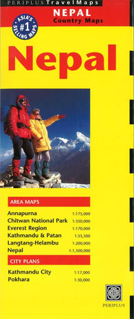 Buy map Nepal by Periplus Editions