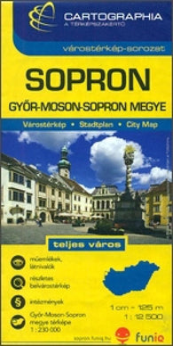 Buy map Sopron, Hungary by Cartographia
