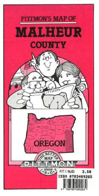Buy map Malheur County, Oregon by Pittmon Map Company