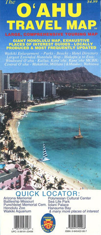 Buy map The Oahu Travel Map by Phears Hawaii Maps