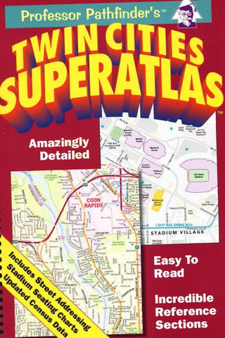 Buy map Twin Cities, Minnesota SuperAtlas by Hedberg Maps