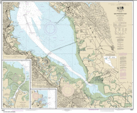 Buy map San Francisco Bay-southern part; Redwood Creek.; Oyster Point (18651-45) by NOAA