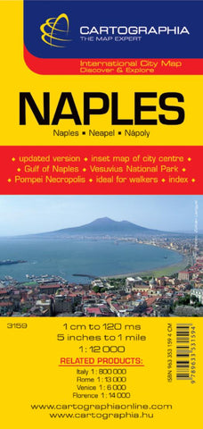 Buy map Naples, Italy by Cartographia