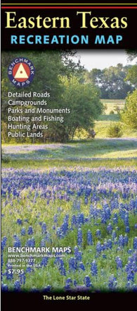 Buy map Texas, Eastern, Recreation Map by Benchmark Maps