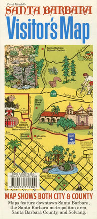 Buy map Santa Barbara, California, Visitors Map by Carol Mendel