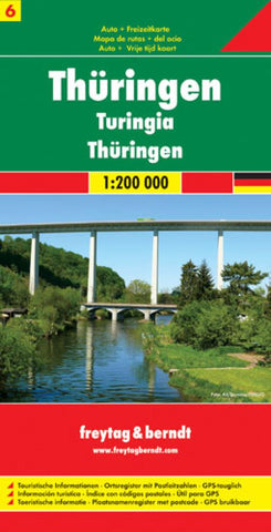Buy map Germany, Thuringia / Thuringen by Freytag-Berndt und Artaria