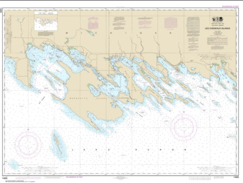 Buy map Les Cheneaux Islands (14885-22) by NOAA