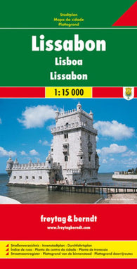 Buy map Lisbon, Portugal by Freytag-Berndt und Artaria