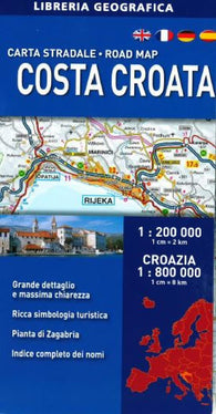Buy map Croatian Coast, Road Map by Libreria Geografica