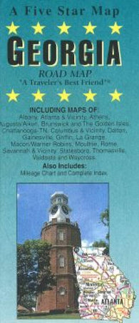 Buy map Georgia by Five Star Maps, Inc.