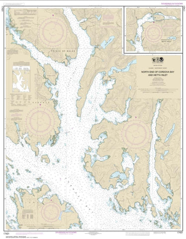 Buy map N. end of Cordova Bay and Hetta Inlet (17431-12) by NOAA