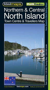 Buy map North Island, Northern and Central, New Zealand, Pathfinder Map by Kiwi Maps