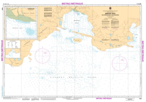 Buy map Bridport Inlet and Approaches/et les Approches by Canadian Hydrographic Service