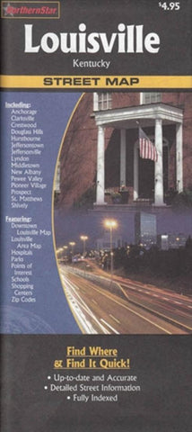 Buy map Louisville, Kentucky by The Seeger Map Company Inc., NorthernStar (Firm)