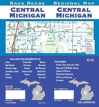 Buy map Michigan, Central, Back Roads by GM Johnson