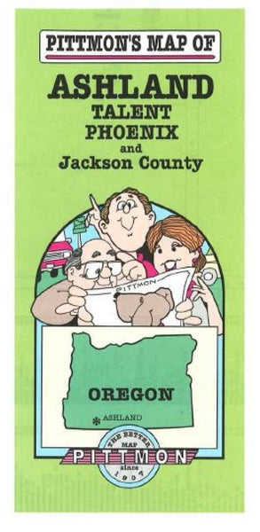 Buy map Ashland and Jackson County, Oregon by Pittmon Map Company
