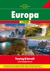 Buy map Europe, Road Atlas, Soft Cover by Freytag-Berndt und Artaria