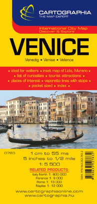 Buy map Venice, Italy by Cartographia