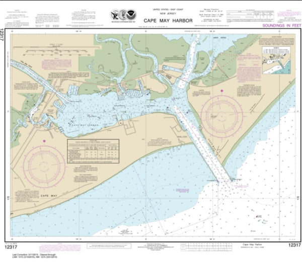 Buy map Cape May Harbor (12317-32) by NOAA