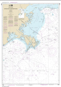 Buy map Approaches to Mississippi River (11366-15) by NOAA