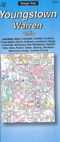 Buy map Youngstown and Warren, Ohio by The Seeger Map Company Inc.